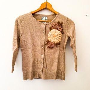 Anthropologie || Tabitha Cashmere Flower Sweater